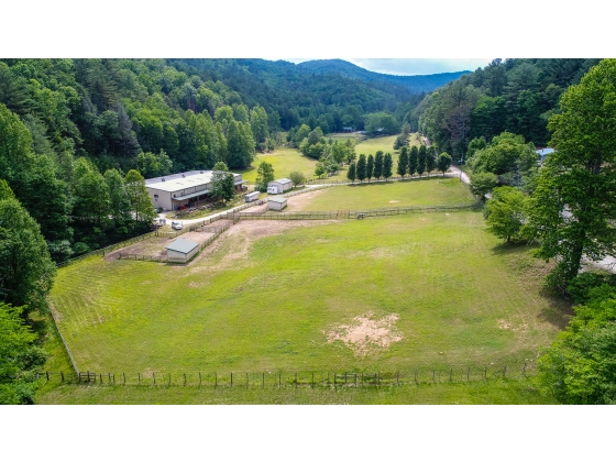 Horse Farm in North Georgia Mountains Bordering U.S. National Forest